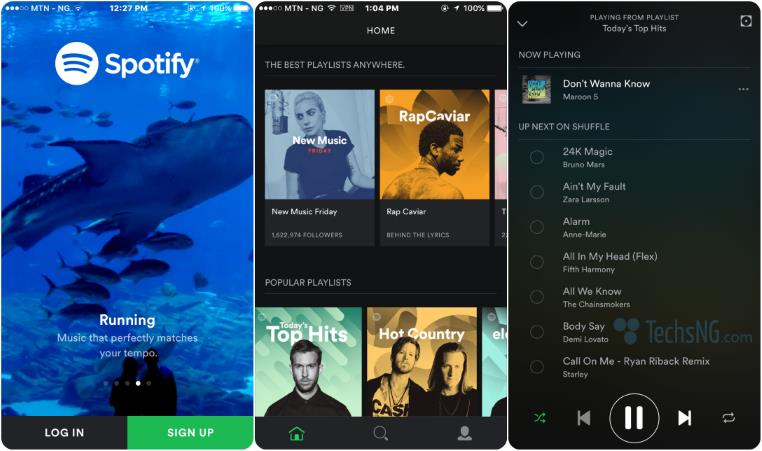 use spotify on iPhone in Nigeria, india