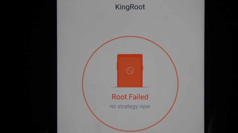 fix kingroot not working root strategy unavailable