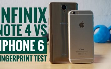 Infinix Note 4 VS iPhone 6 fingerprint test