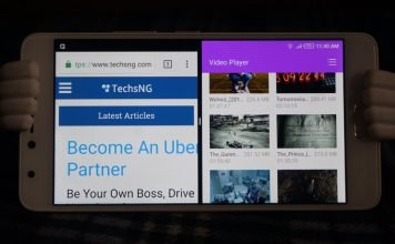 Split screen multitasking on infinix android phones