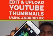 create, edit and upload youtube thumbnails using phone