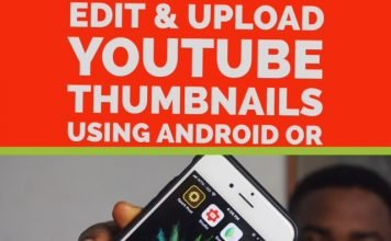 create, edit and upload youtube thumbnails using phone