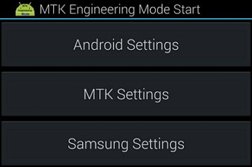MTK engineering Mode settings