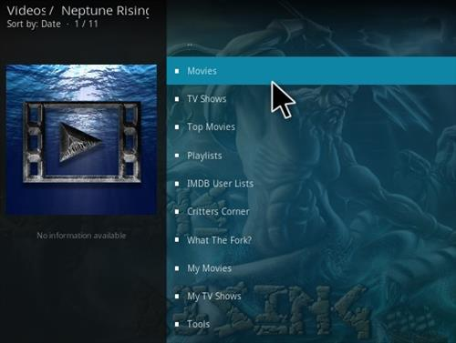 Neptune rising kodi add-on for movies and tv shows