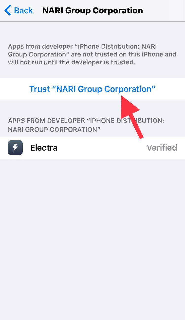 Trust NARI Group Corporation profile