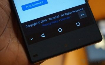 Onscreen Android Touch Screen menu buttons