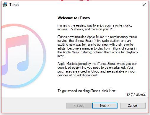 installing iTunes on windows PC