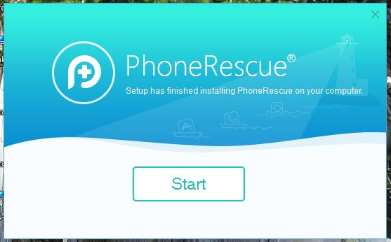 phonerescue for iOS installation on windows PC is finally complete