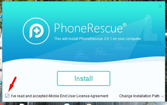 phonescue installation screen