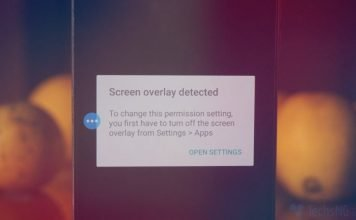 screen overlay detected error on android solved
