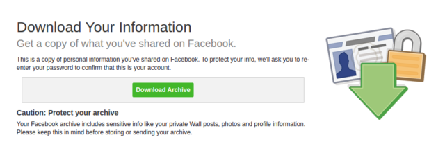 download facebook data as backup