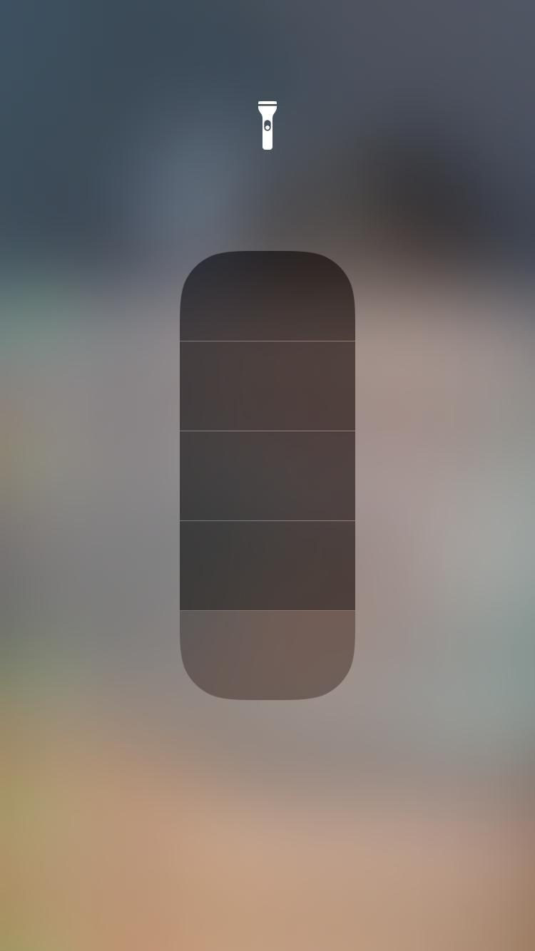 how to change flashlight brightness level on iPhone