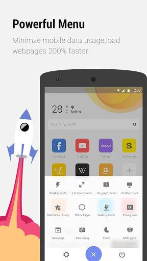 Apus browser fast android browser