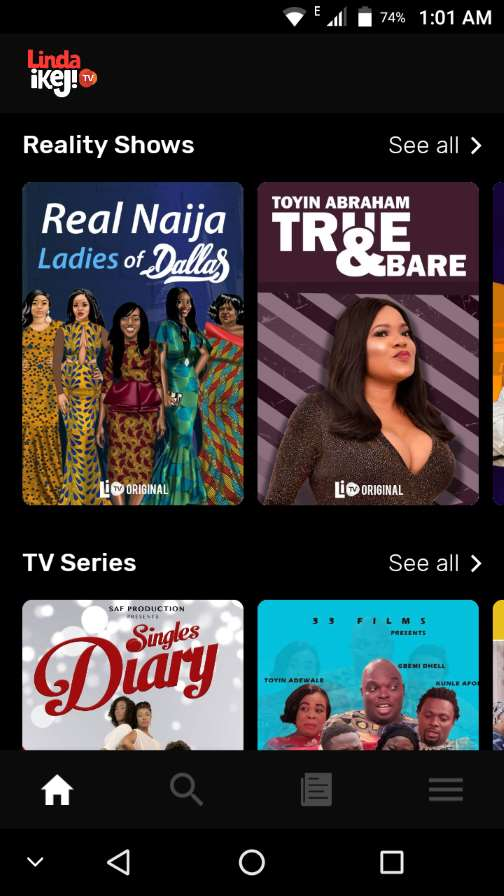 Reality shows, TV shows, Movies on Linda Ikeji TV app