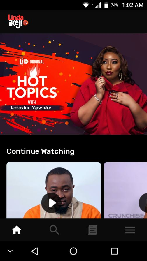 continue watching feature on LITV app