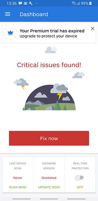 critical issues found